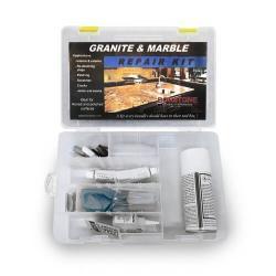 granite and marble repair kit for cracks - color matching gel