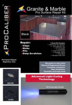 Pit Repair Kit Black Granite Counter Top Cover