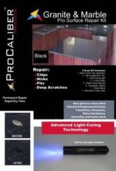 Pit Repair Kit: Black Granite Counter top Repair cover