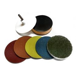 marble polishing pads for removing etch marks, glass rings and scratches